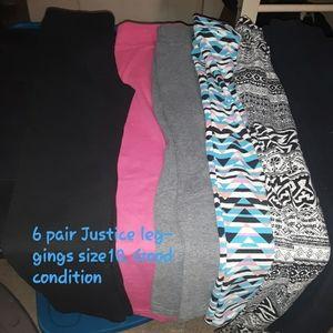 Lot: 6 pair youth girls leggings